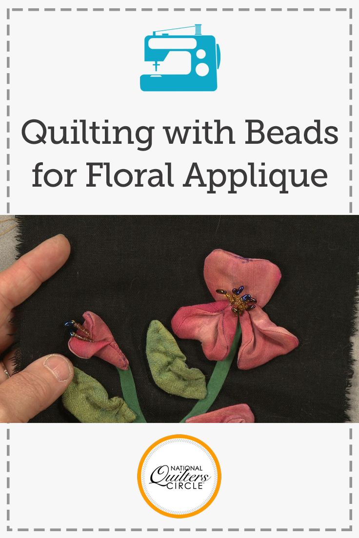 Quilting with beads is a great way to add texture to your next art quilt project. Heather Thomas shows you how to create beaded stamens on three dimensional appliqued flowers that can easily be added to your next project.