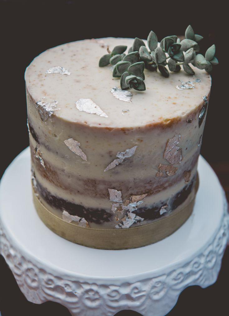 naked cake gold leaf styled bridal tea party editorial photoshoot