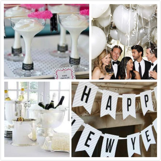 ring in the new year with these fun nye party themes a white new years eve party celebration holiday parties pinterest party new years eve
