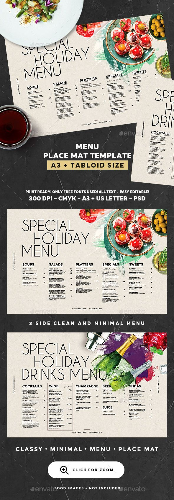 Menu Template — Photoshop PSD #cafe #cocktail menu • Download ➝ https://graphicriver.net/item/menu-template/19244975?ref=pxcr
