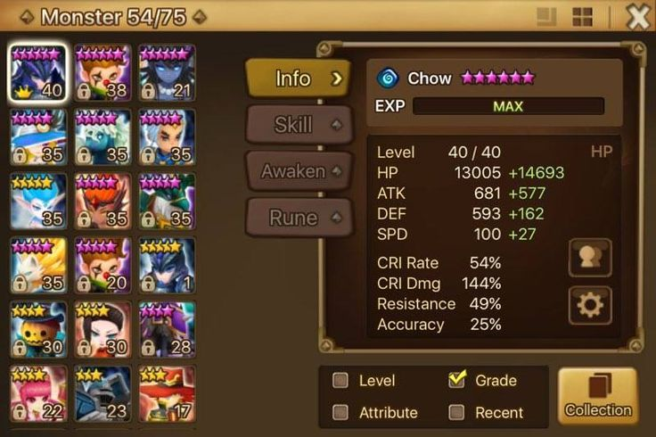Summoners War Account Global Nice Nat 5* Monsters with Water Unicorn