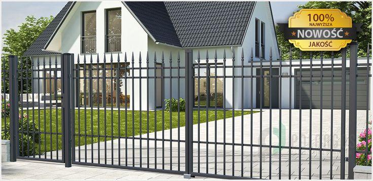 Portland to ogrodzenie charakteryzujące się prostą linią, podkreślającą elegancję i styl domu.