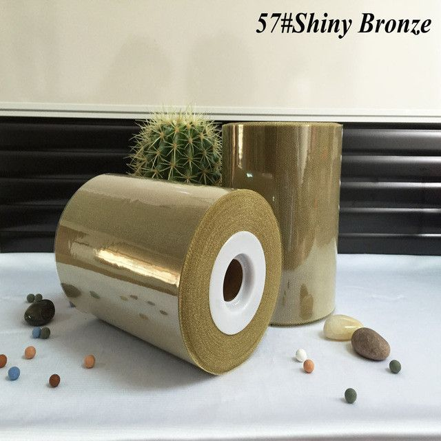 6 inch 15cm 100 Yards Shimmer Tulle Rolls for Craft Wedding or Party Decoration