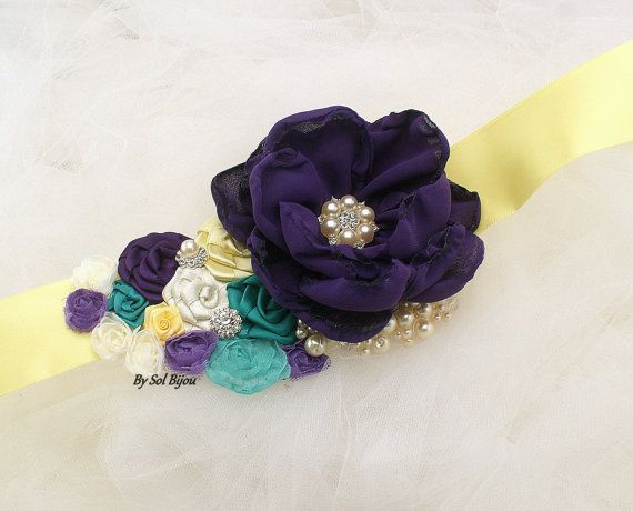 Marco amarillo púrpura ciruela marfil turquesa boda