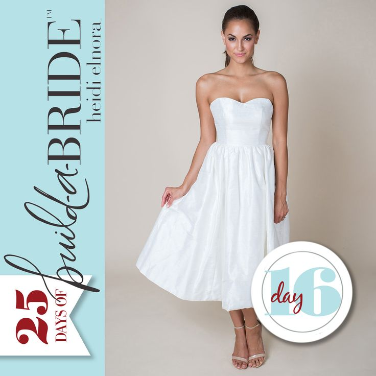 "The Ollie Alice is perfect for the bride looking to add a vintage flair to her big day! Great for a destination wedding, or even wear it to your rehearsal dinner! Have a bride that you want to nominate for a chance to win a ""build-a-bride"" by heidi elnora gown (up to $3000 retail value)? Email info@heidielnora.com for an application."