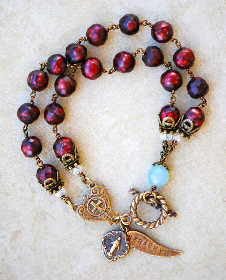 Pomegranate Pearl Rosary Bracelet