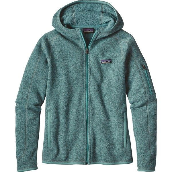 Patagonia Better Sweater Full-Zip Hooded Jacket ($159) ❤ liked on Polyvore featuring tops, hoodies, zip up top, full zip up hoodies, zip up hoodies, blue hoodies and patagonia hoody