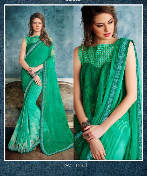Green Georgette Printed Sari #green #Trendy #onlinesari #sari #saree #WomenClothing #WomenWear #Designersari #stylishsari #nikvik #usa #designer #australia #canada #malaysia #UAE #freeshipping  Sign up and get USD100 worth vouchers.Price-US$49.38