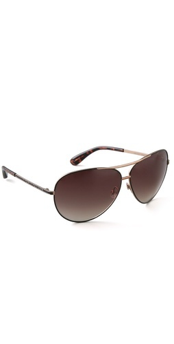 Marc by Marc Jacobs Oversized Aviator Sunglasses in brown