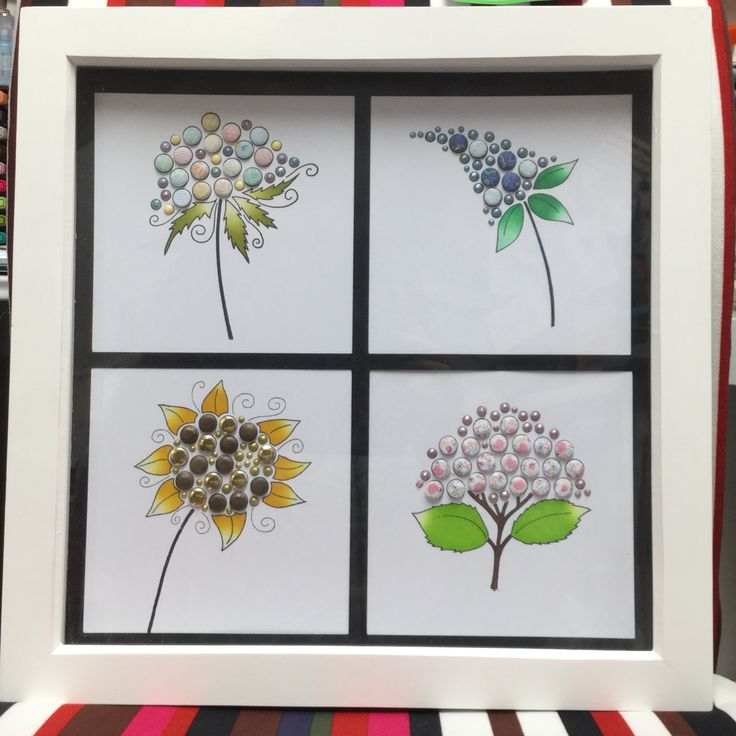 Shadow box frame, Craftwork Cards stamps and Candi - Chameleon pens