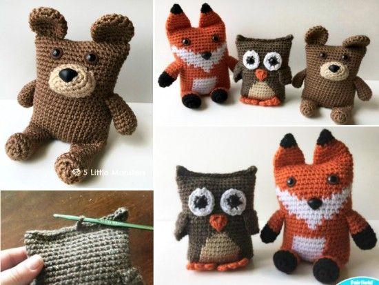 Boxy Bear Boxy Owl Boxy Owl Free Crochet Patterns