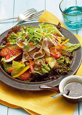 豚肉と蒸しなすのサラダ ~しょうがドレッシング~ のレシピ・作り方 ... 材料(2人分)