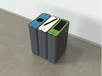 Abfallbehälter Aus Metall Für Mülltrennung RADIUS | Recycle Bin