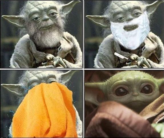 Yoda Beard Shave Baby Yoda Star Wars Funny Meme Star Wars Humor Memes Yoda
