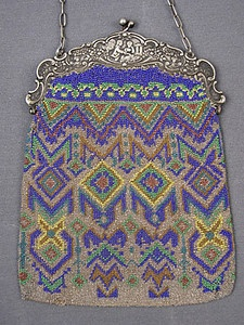 Geometric Beaded Bag, circa 1910