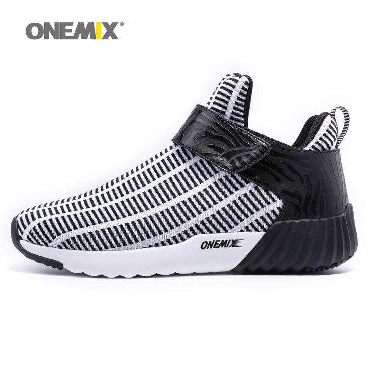 Terbaru Onemix tinggi meningkatkan sepatu hangat musim dingin pria & wanita sepatu olahraga outdoor pria menjalankan sepatu ukuran EU 36-46