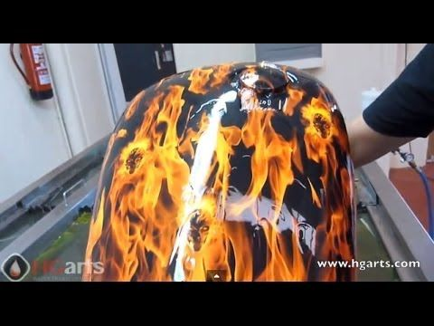 Water Transfer Printing - Hydrographics for Motorcycle Industry - Europe's Premier Water Transfer Printing Training Facility... :)
