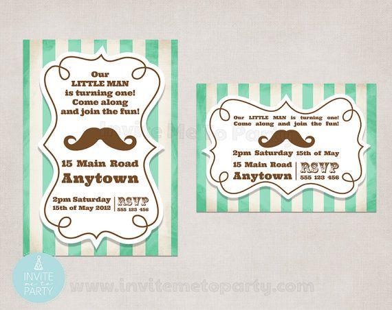 Mustache Bash Invitation Party Invitation / by InviteMe2Party, $12.00
