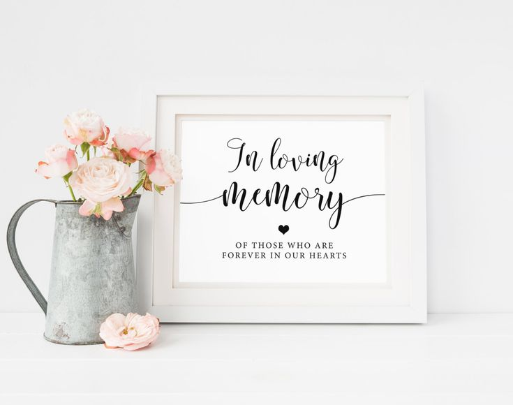 In Loving Memory Wedding Sign, Memorial Sign, Loving Memory Sign, Remembrance Sign, Ceremony Sign, Memorial Table Sign, Wedding Heaven Sign by SweetRainDesign on Etsy