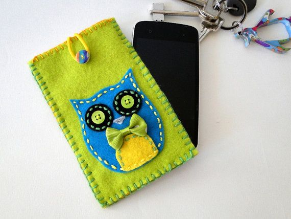 Handmade Cell Phone Case Cover Sleeve Made of Felt in by MoxxyLand, €16.00
