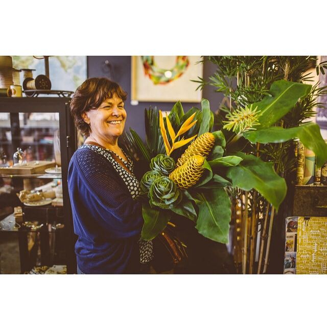 Judy delivering something special for a corporate client. Photo by Sarah-Kate McAleer.