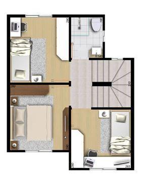 planos de casas economicas de 2 pisos detalhes. Black Bedroom Furniture Sets. Home Design Ideas