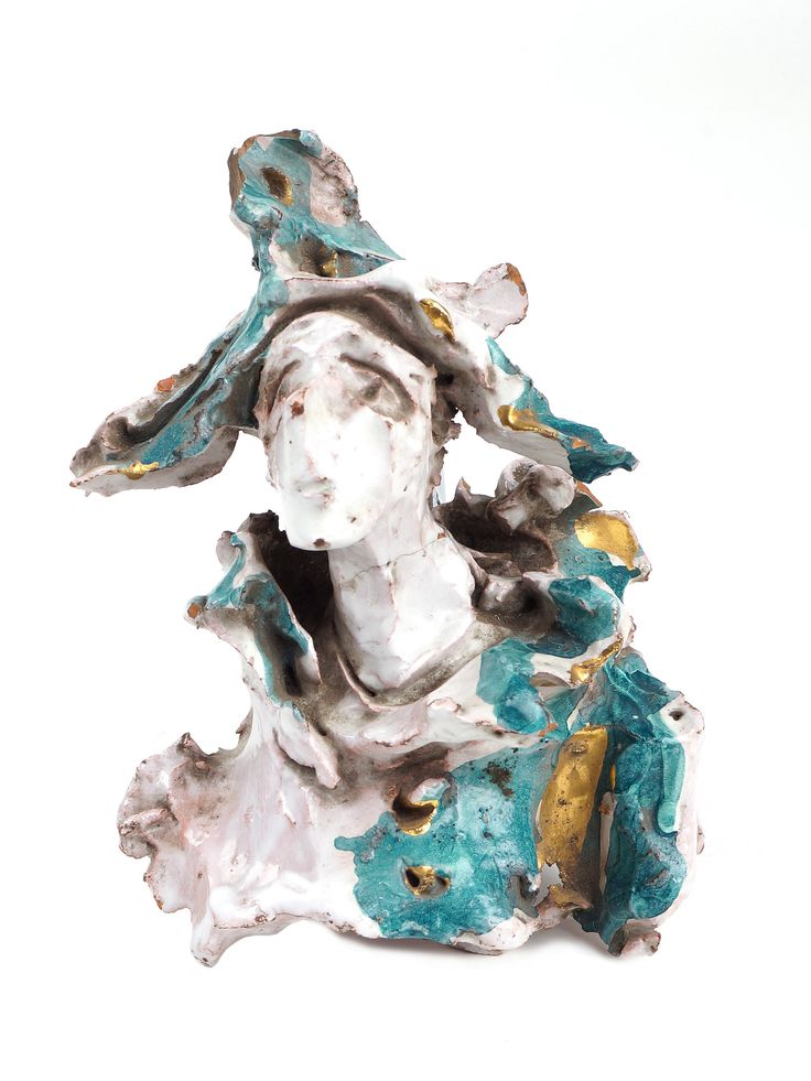 """Lucio Fontana - """"Arlecchino"""" years '50 - ceramic sculpture. Signed on the back. In storage at the Fondazione Fontana."""
