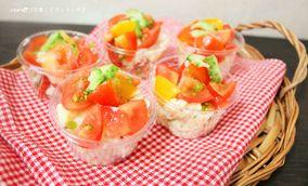 ミニカップでおすそ分け♪トマトはダブル使いdeトマトのポテトサラダ|レシピブログ