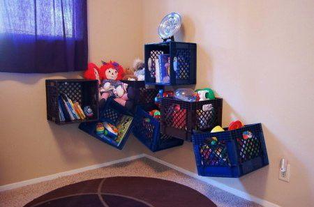 Пластмассовые ящики для игрушек
