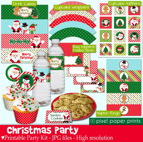 High School Christmas Party Ideas Part - 15: Christmas Party Printables - Great For School Parties, Cookie Exchanges And  More.