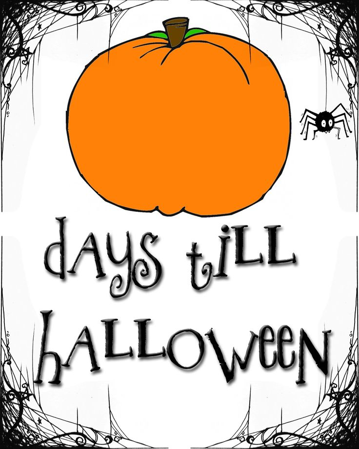 Free Halloween countdown printable for 8 x 10 frame. More free fall, Halloween, and Thanksgiving printables! Lots of 8 x 10 and 12 x 12 signs and 6 different banners.