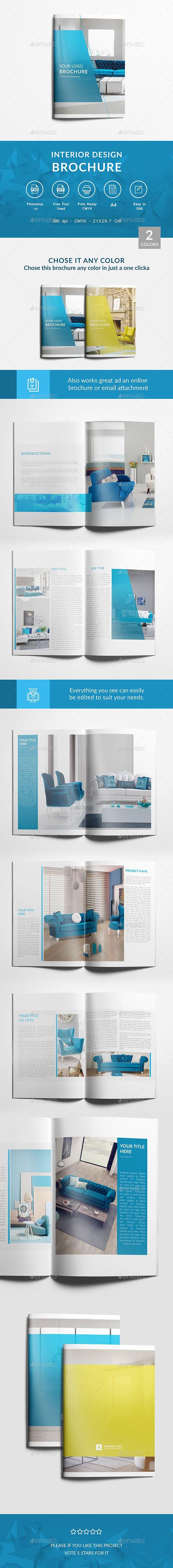 Interior Design Brochure A4 Template PSD
