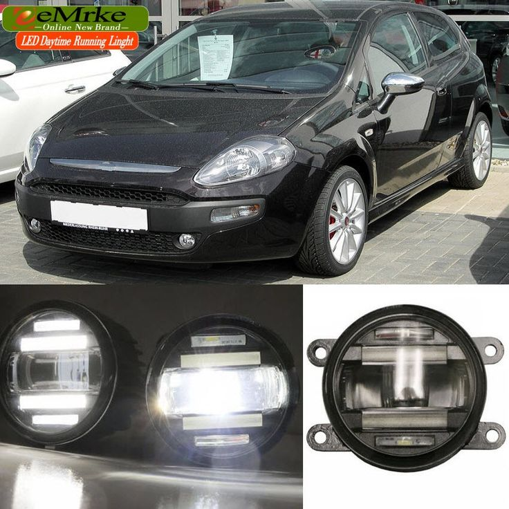 158.00$  Watch now - http://ali9xh.worldwells.pw/go.php?t=32669079368 - eeMrke Car Styling For Fiat Punto Evo 2009-2012 2 in 1 LED Fog Light Lamp DRL With Lens Daytime Running Lights