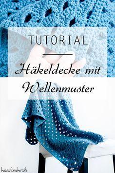 DIY Tutorial: Häkeldecke mit Wellenmuster #häkeln #anleitung #diy #crochet
