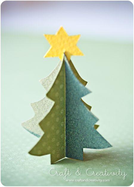 Alberi di Natale di carta tridimensionale #paper #christmas #tree #DIY