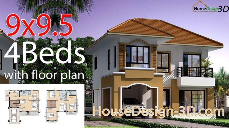 9x9 5 With 4 Bedrooms In 2020 Architectural House Plans