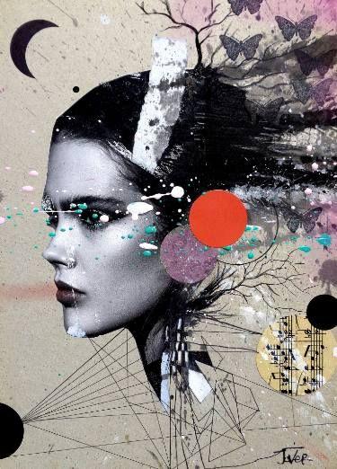 """Saatchi Art Artist LOUI JOVER; Collage, """"rumors"""" #art"""