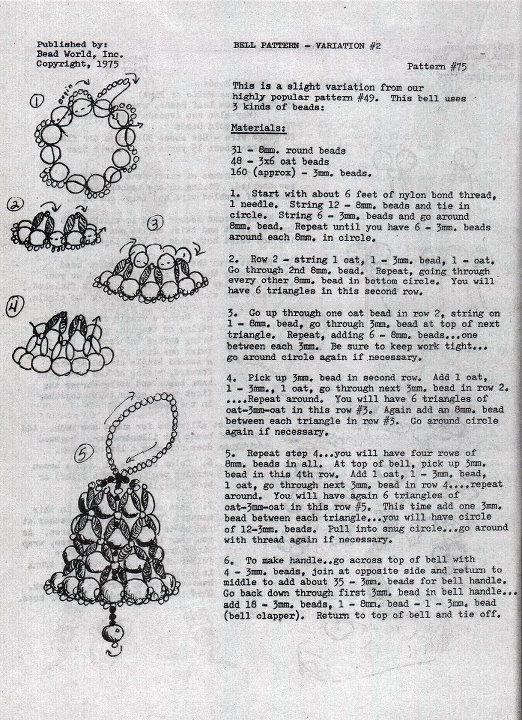 Beaded bell pattern