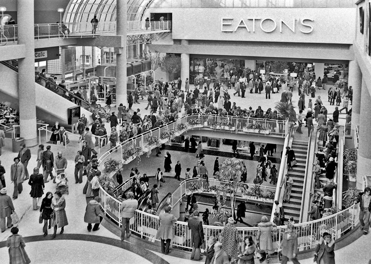 Eaton Centre, Toronto - Opening Day 1977