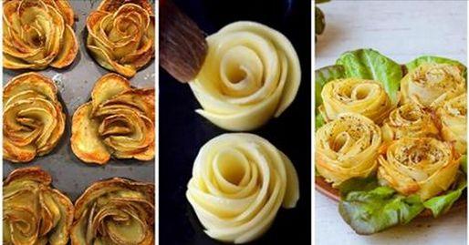Come preparare le rose di patate al forno