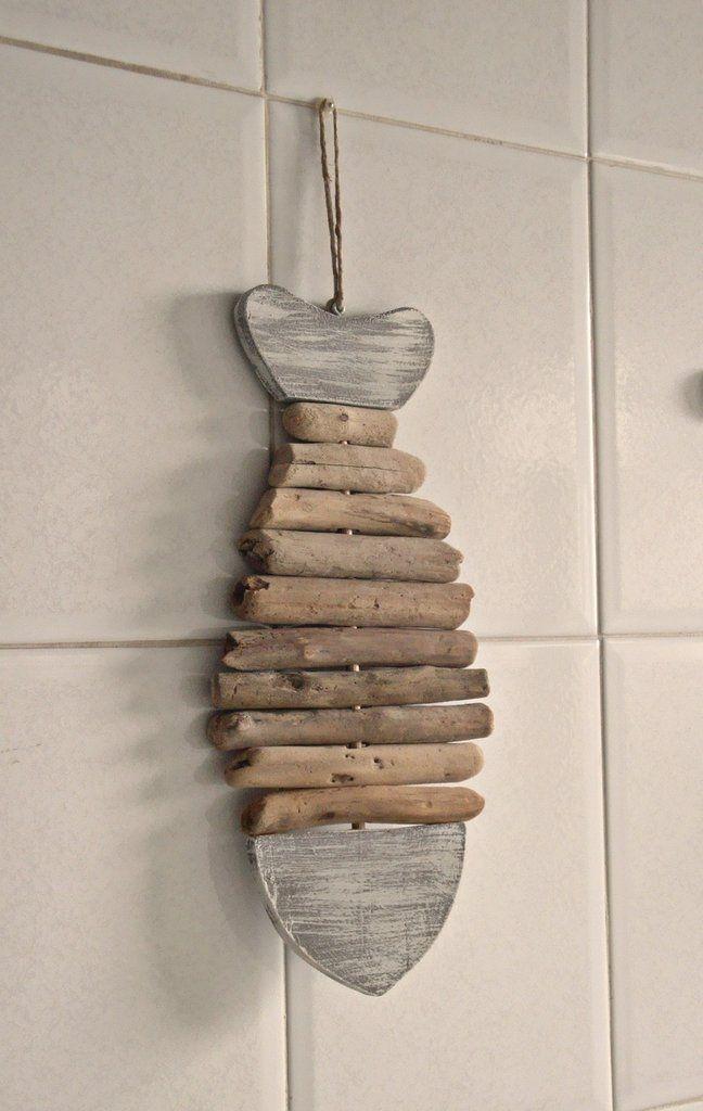 PESCE decorativo con legni di mare fatto a mano, by Tendance Nature, 21,00 € su misshobby.com