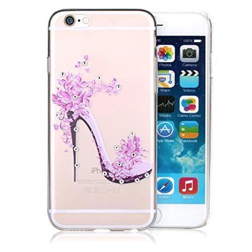 Oferta: 8.92€. Comprar Ofertas de Infinite U joyas transparente TPU Gel 3d Bling Rhinestone flor rosa zapatos de tacón alto celular teléfono móvil/Carcasa para barato. ¡Mira las ofertas!