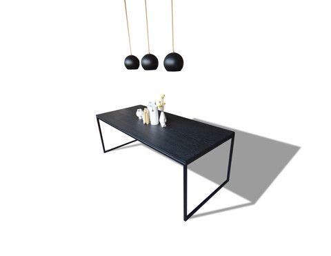 All Black Minimalist Table