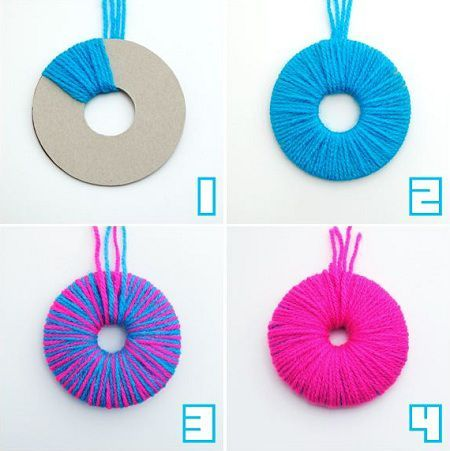 Como hacer pompones de lana - Como hacer pompones ...