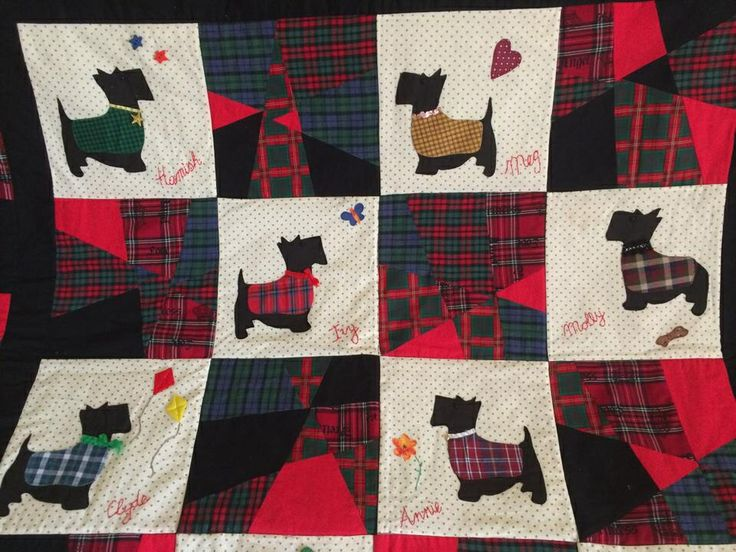 17 Best images about Scottie dog quilts on Pinterest Quilt sets, Quilting patterns and Quilt