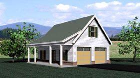 Garage Plan 47070 | Traditional Plan, 2 Car Garage at family home plans