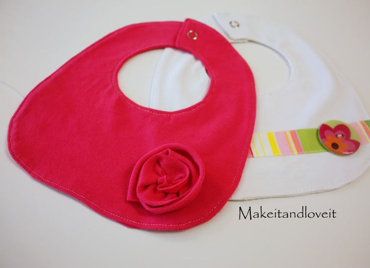 simple baby bib tutorials