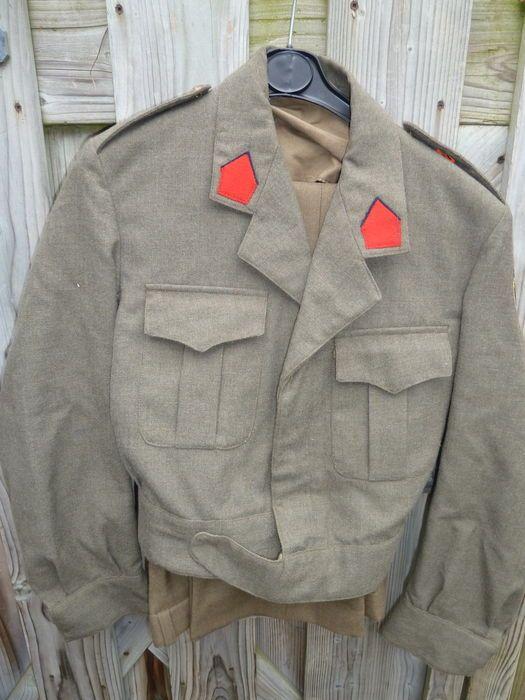 Online veilinghuis Catawiki: Belgisch leger net pak ABL met broek zeer nette staat