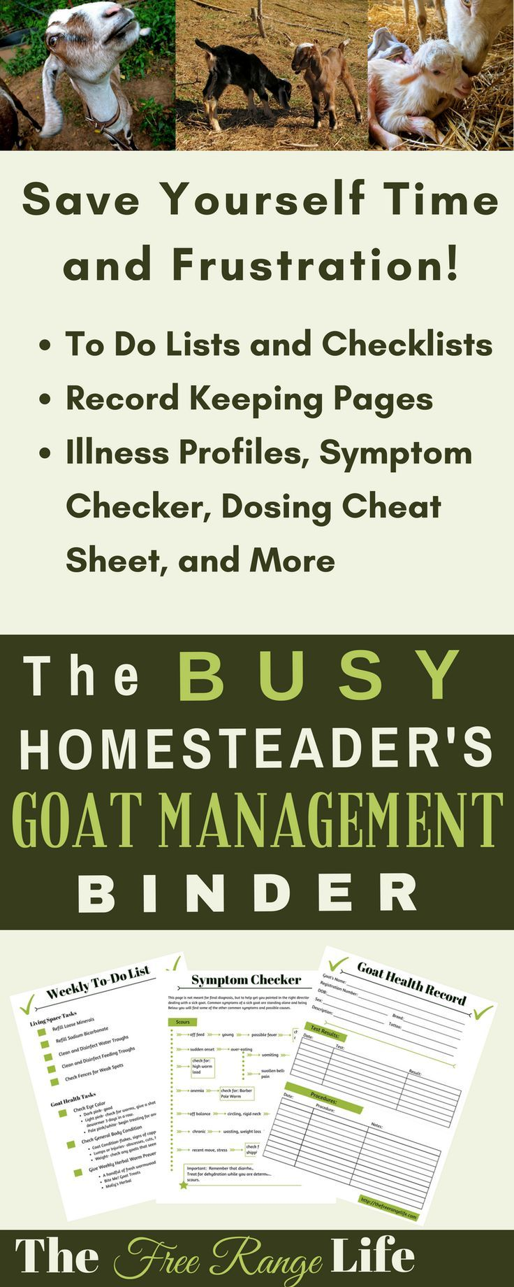 The Busy Homesteader's Goat Management Binder is a excellent tool! Perfect for busy homesteaders, it contains a lot of great information all in one location. It simplifies our busy lives and makes managing our herd so much easier.