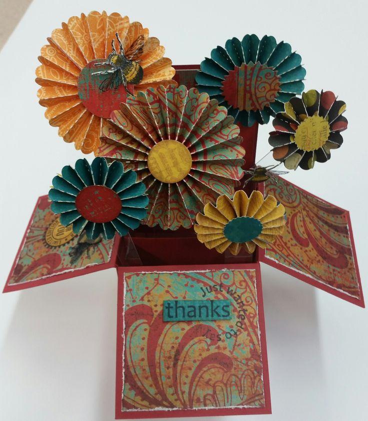 Flowers & Bees Box by Susan of Art Attic Studio